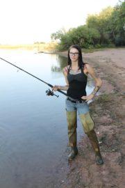 Hot fisherman lady