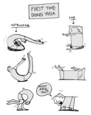 First time doing yoga