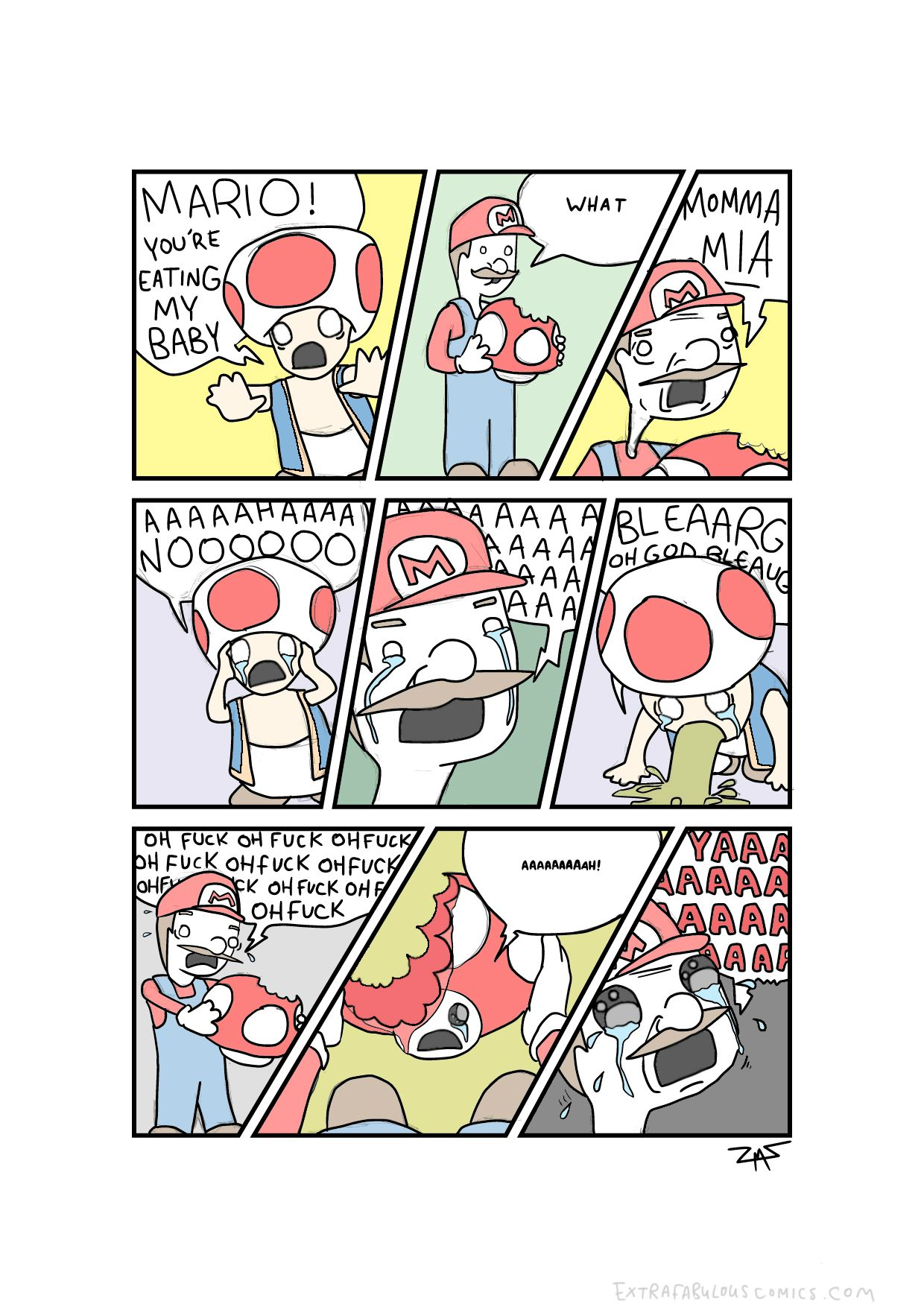Mario! You're eating my baby!