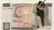 New ten pounds note of bank of england