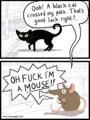 Oh fuck I'm a mouse!
