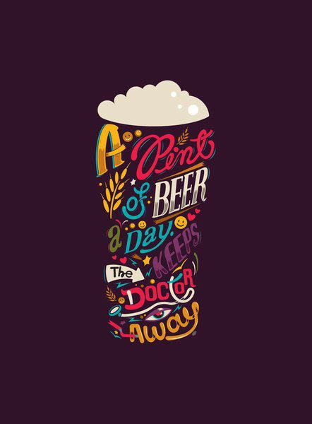 A pint of beer a day keeps the doctor away