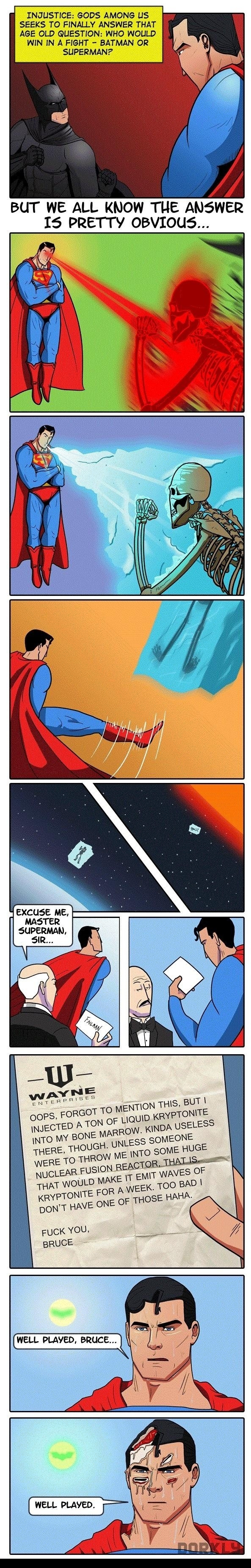 Who would win in a fight – Batman or Superman?