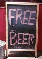 Free WiFi and Great Beer