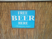 Free beer here (tomorrow only)