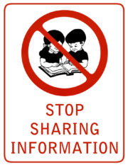 Stop sharing information
