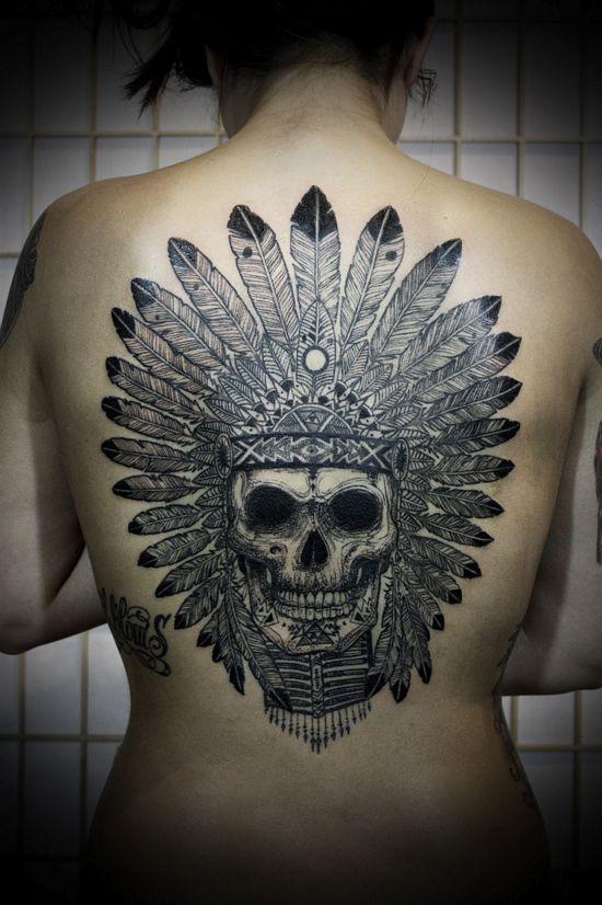 beatifull skull tattoo