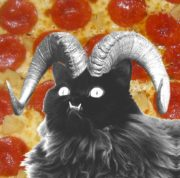 Evil pizza cat