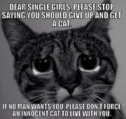 Dear single girls..