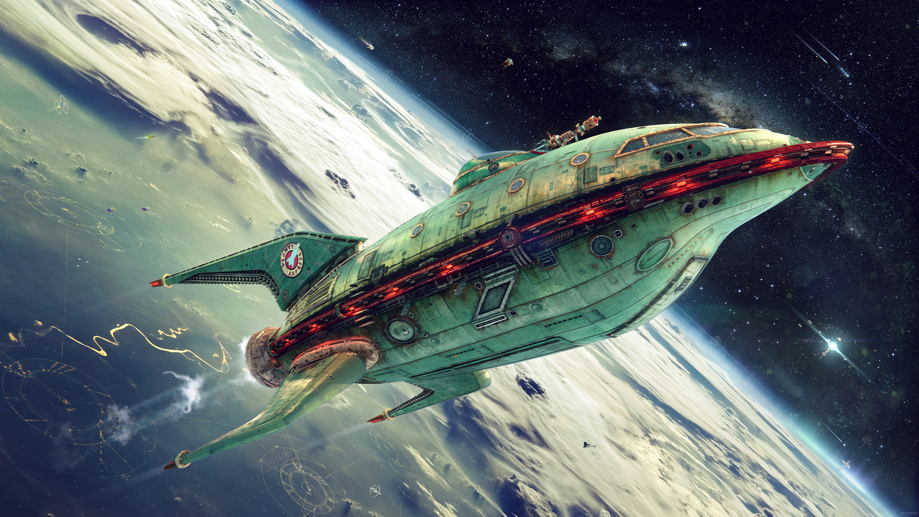 Futurama space ship