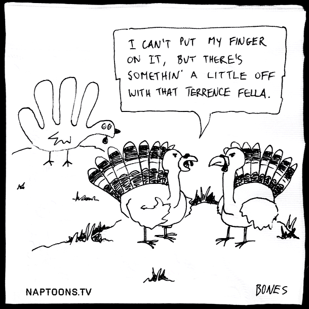 Hand drawn turkey trouble