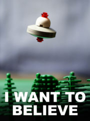 I want to believe … in lego