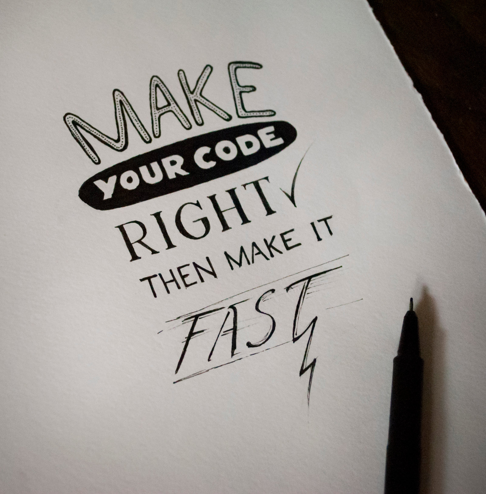Make your code right, then make it fast