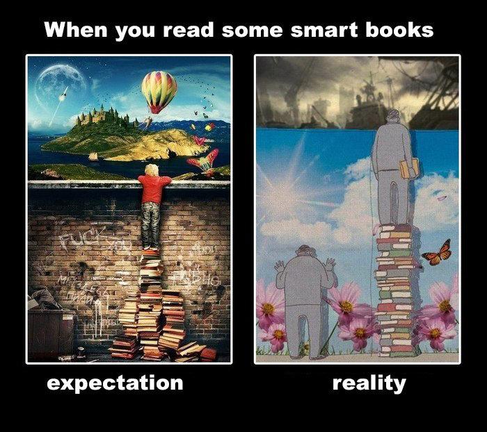 When you read smart books