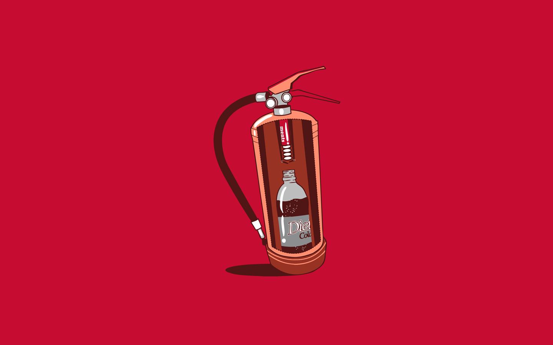 Coke fire extinguisher