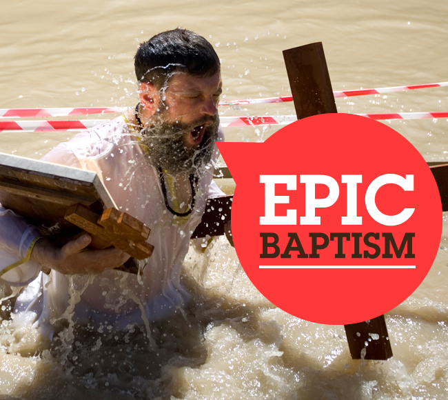 Epic baptism