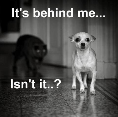 It's behind me…