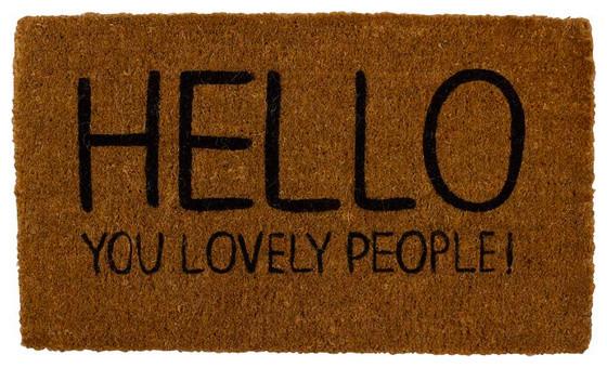 Lovely door mat