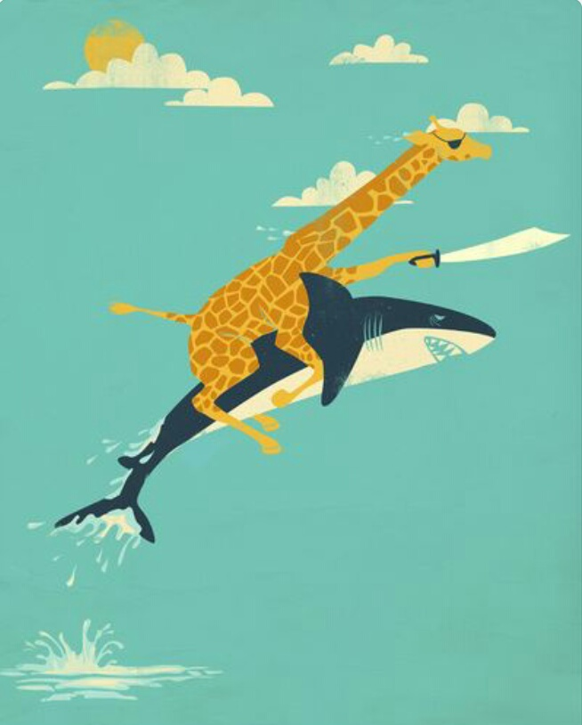 Pirate Giraffe & Shark