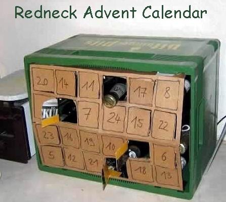 Redneck advent calendar