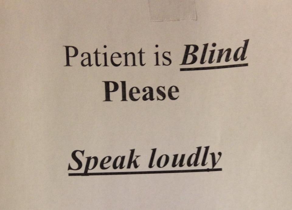 Speak loudly