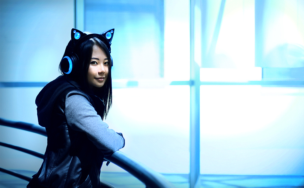 Cat ears headphones by Axent Wear #2