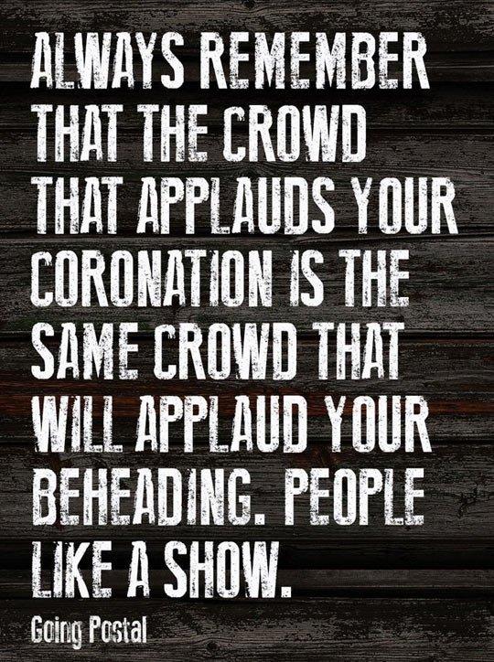 People like a show