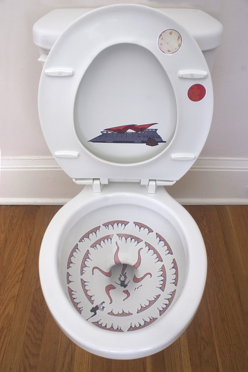 Sarlacc bowl (Star Wars themed toilet seat)