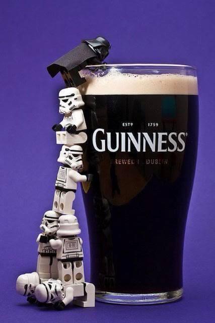 Darth Vader loves guinness