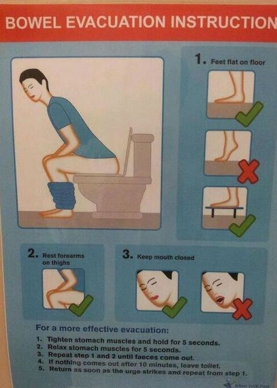 Bowel evacuation instruction