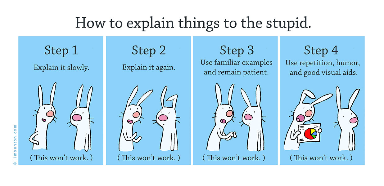 How to explain things to the stupid.