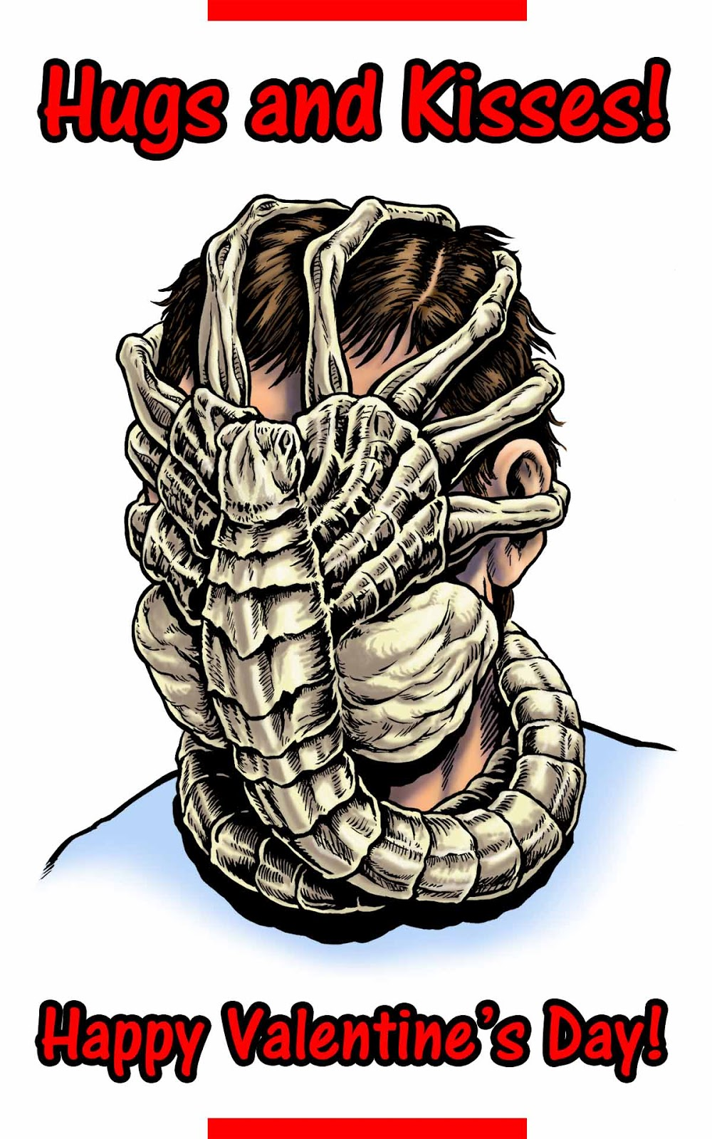 Hugs and kisses facehugger style