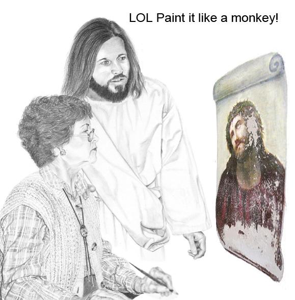 Paint it like a monkey!