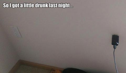 So I got a little drunk last night…