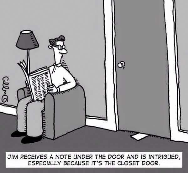 A note under the door…