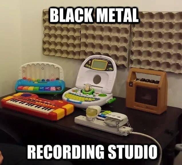Black metal recording studio