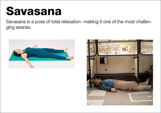 Drunk Yoga – Savasana pose