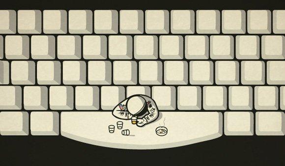 Spaceman on spacebar