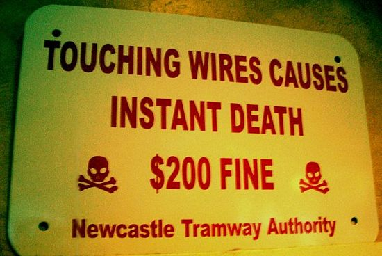 Touching wires causes instant death