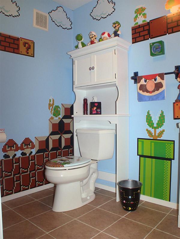 Video game bathroom