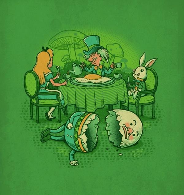Alice in wonderland Easter party