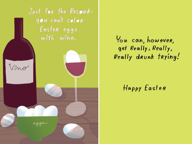 Coloring Easter eggs with wine