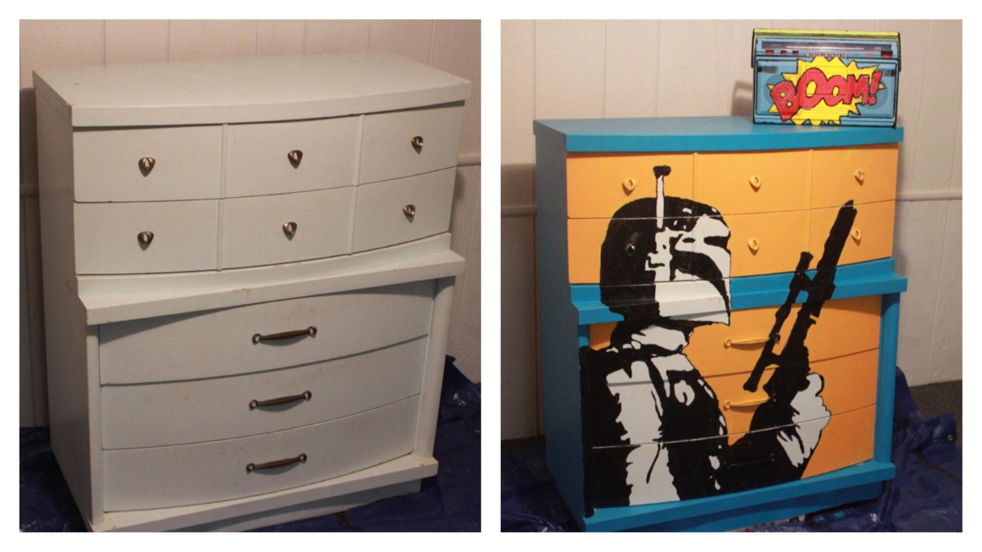 Cool dresser upgrade and boom box