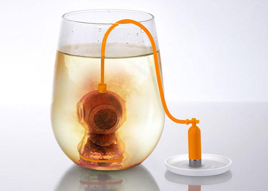 Deep tea infuser