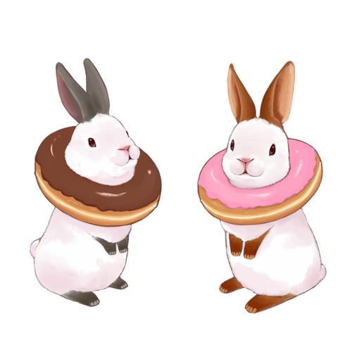 Easter bunny doughnuts