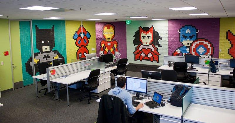 Post-Its office walls