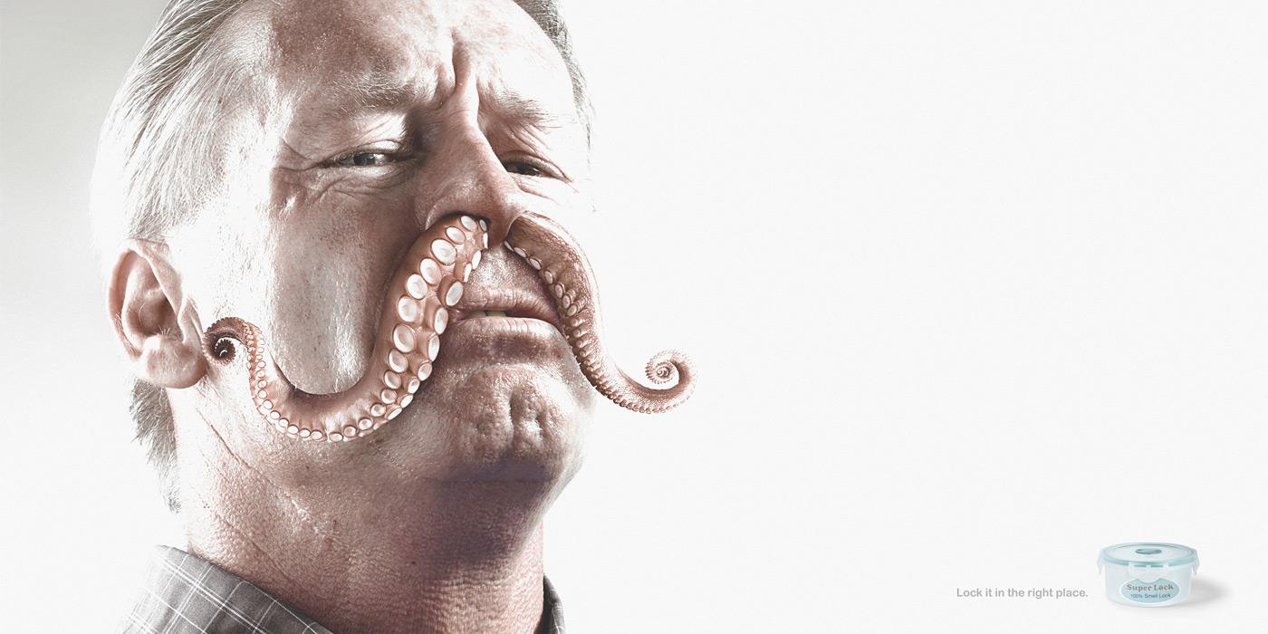 Squid mustache