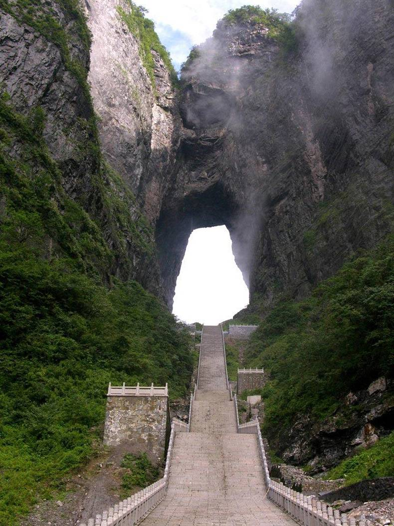 Stairs to hole