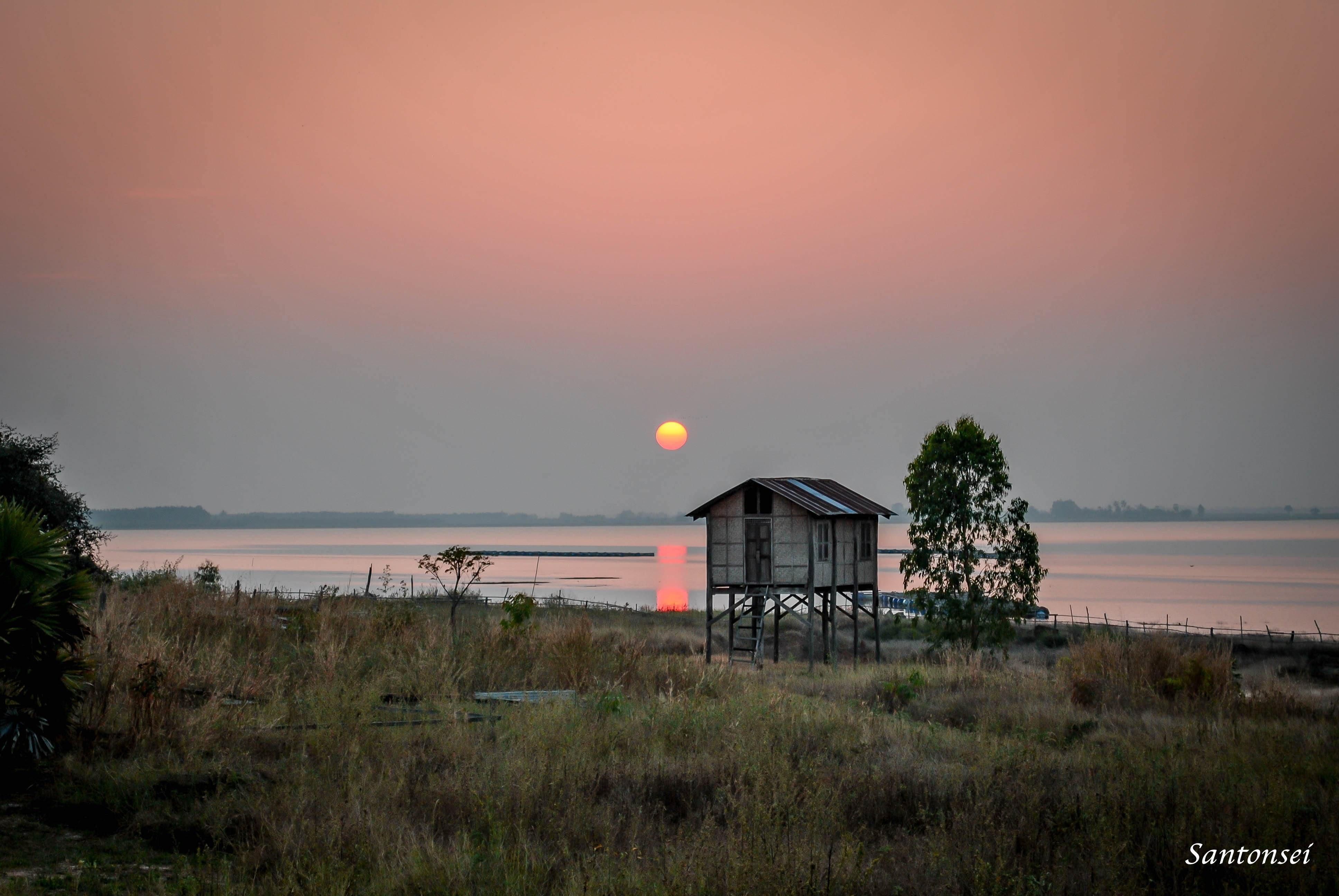Sunset in Thailand's Isan region