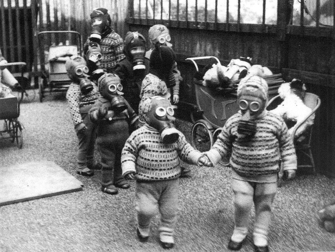 Kindergarten Gas Mask Party